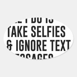 Adesivo Oval Ignore textos