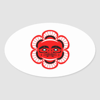 Adesivo Oval Iluminação espiritual