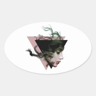 Adesivo Oval Ilusão do fumo