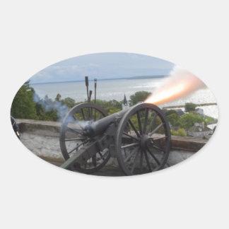 Adesivo Oval Incêndio de Canon