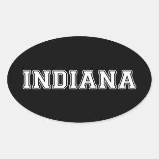 Adesivo Oval Indiana