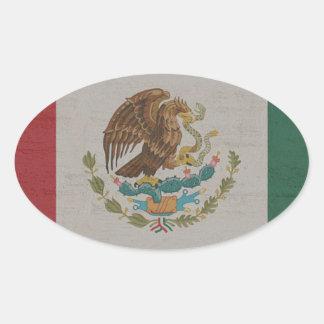 Adesivo Oval International da bandeira de México