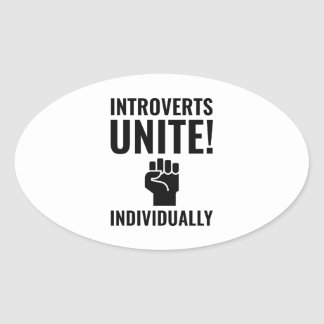 Adesivo Oval Introverts unem-se