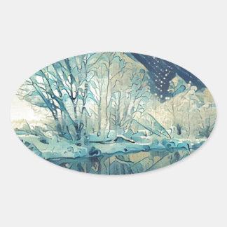 Adesivo Oval Inverno