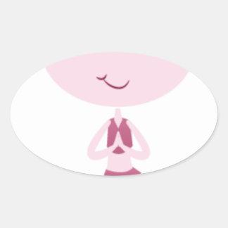 Adesivo Oval Iogue de Namaste