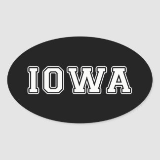 Adesivo Oval Iowa