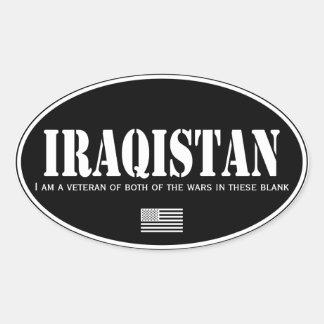 Adesivo Oval Iraqistan