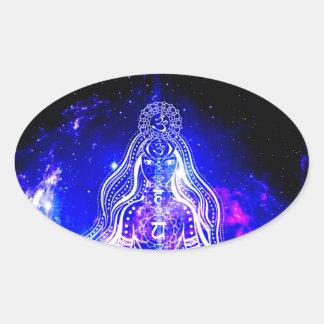 Adesivo Oval Iridescence cósmico
