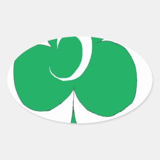 Adesivo Oval Irlandês afortunado 5 dos clubes, fernandes tony