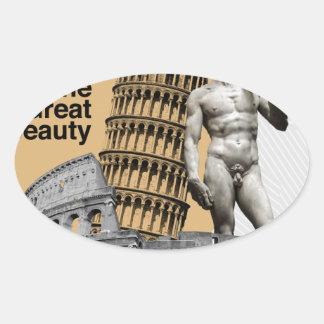 Adesivo Oval Italia, a grande beleza