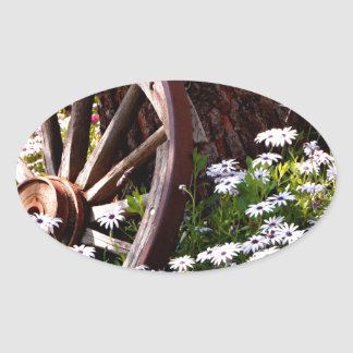 Adesivo Oval Jardim calmo