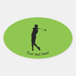 Adesivo Oval Jogador de golfe