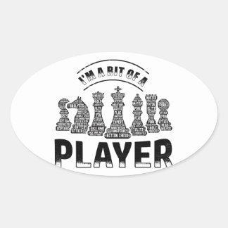 Adesivo Oval Jogador de xadrez