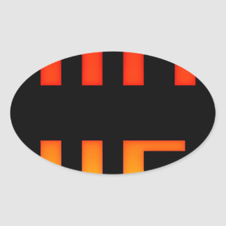 Adesivo Oval Jogo sobre 8bit retro