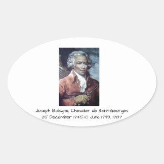 Adesivo Oval Joseph Bologne, Cavaleiro de Santo-Georges