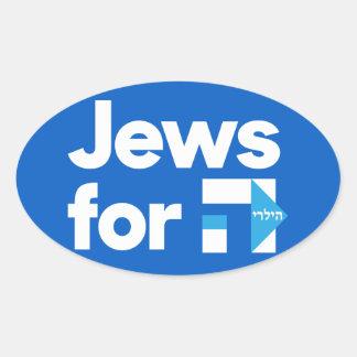 Adesivo Oval Judeus para o autocolante no vidro traseiro do