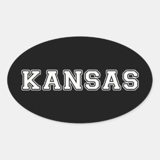 Adesivo Oval Kansas