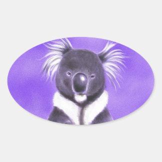Adesivo Oval Koala de Buddha