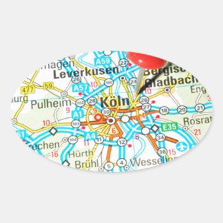 Adesivo Oval Köln, água de Colônia, Alemanha