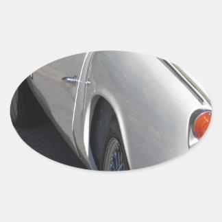 Adesivo Oval Lado esquerdo de um carro clássico britânico velho