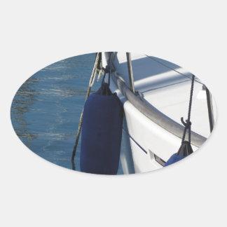 Adesivo Oval Lado esquerdo do barco de navigação com os dois