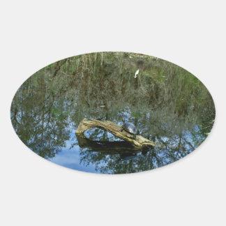 Adesivo Oval Lagoa da cinza do pop