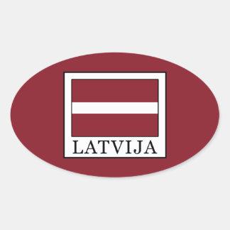 Adesivo Oval Latvija