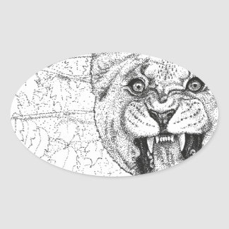 Adesivo Oval Leoa