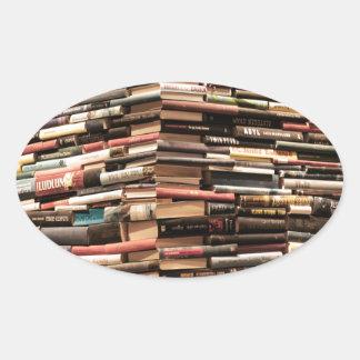 Adesivo Oval Livros
