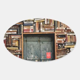 Adesivo Oval Livros e livros