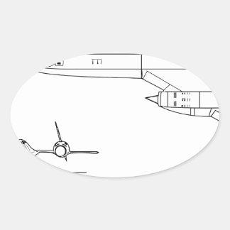 Adesivo Oval Lockheed_YF-12A_3view