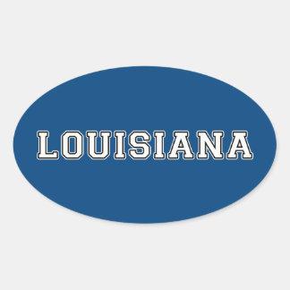 Adesivo Oval Louisiana