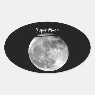 Adesivo Oval Lua super com a passagem do avião/customizável!