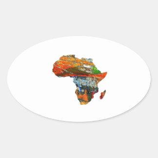 Adesivo Oval Mãe África