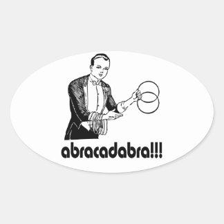 Adesivo Oval Mágico do Abracadabra