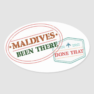 Adesivo Oval Maldives feito lá isso
