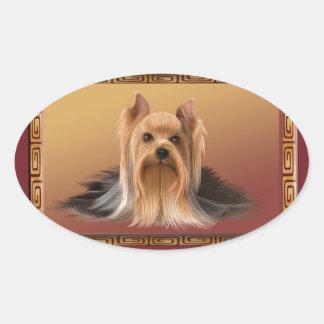 Adesivo Oval Maltês no ano novo chinês do design asiático, cão