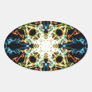 Adesivo Oval Mandala da iluminação