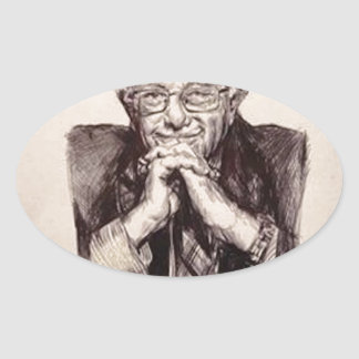 Adesivo Oval Máquinas de lixar de Bernie por Billy Jackson