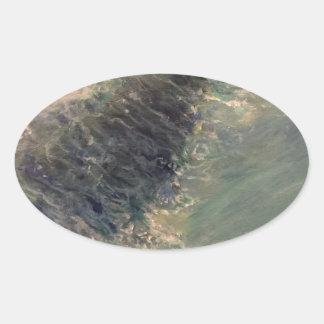 Adesivo Oval Maré do rasgo