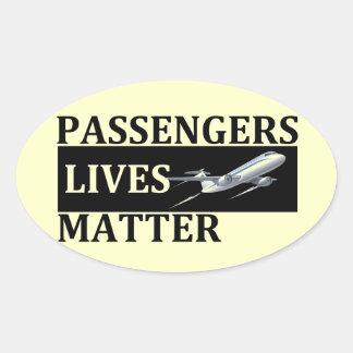 Adesivo Oval Matéria das vidas dos passageiros