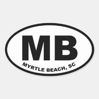 Adesivo Oval MB de Myrtle Beach