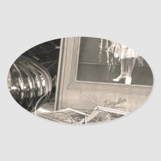 Adesivo Oval Memórias do vintage