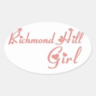 Adesivo Oval Menina de Richmond