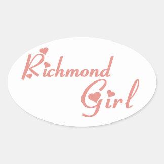 Adesivo Oval Menina do monte de Richmond