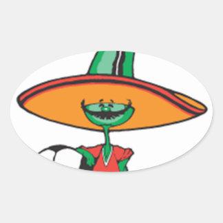 Adesivo Oval México bonito, design,