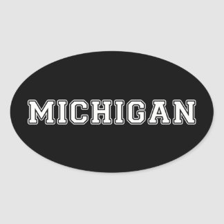 Adesivo Oval Michigan