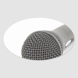 Adesivo Oval Microfone - conversa a mim