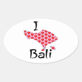 Adesivo Oval Mim coração Bali