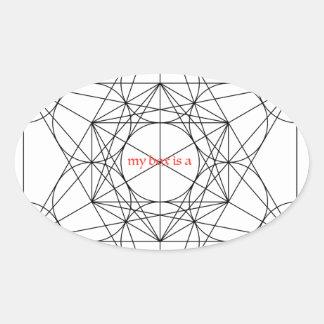 Adesivo Oval minha caixa é… O cubo de Metatron